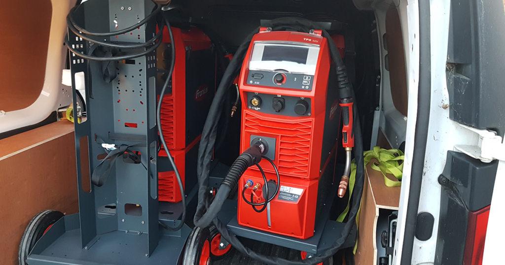 Fronius welding equipment is mobile
