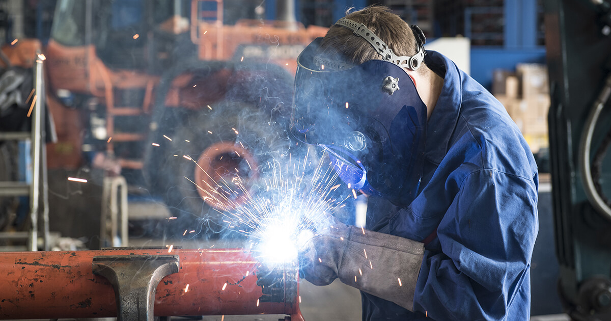 MIG Welding machine in action